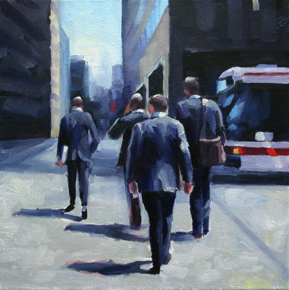 """Suits at Bay and Wellington"" original fine art by Catherine Jeffrey"