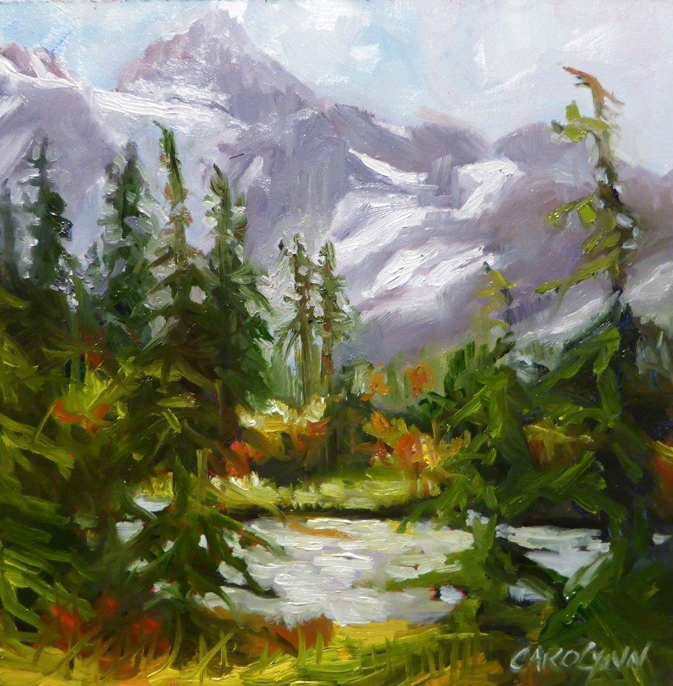 """Shuksan Glacier"" original fine art by Carolynn Doan"