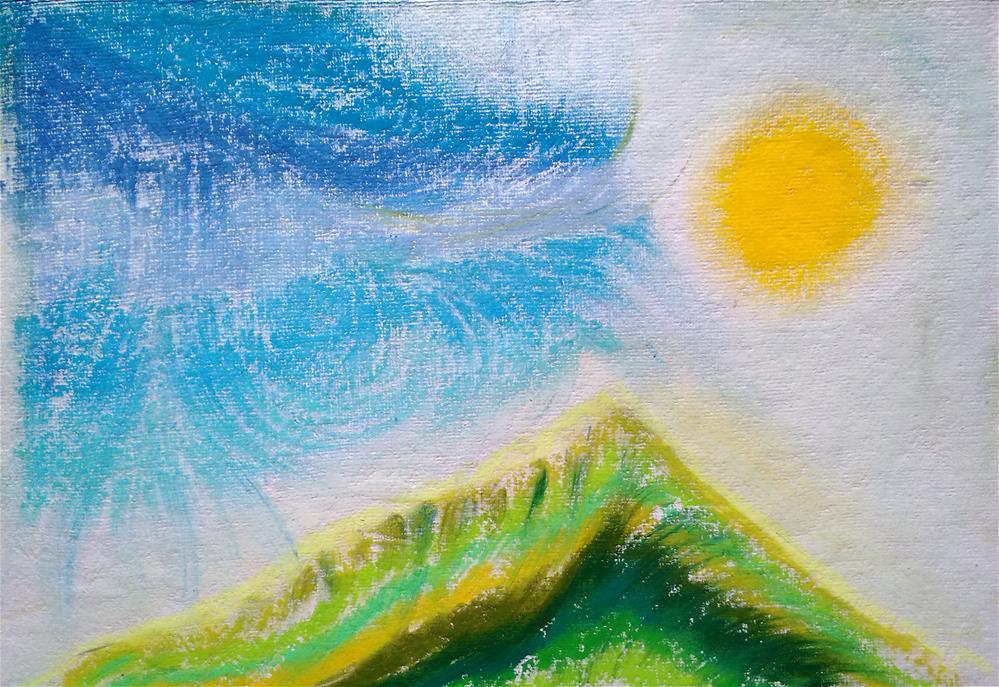 """""""Rain comes to Arunachala"""" original fine art by Adéla Svobodová"""