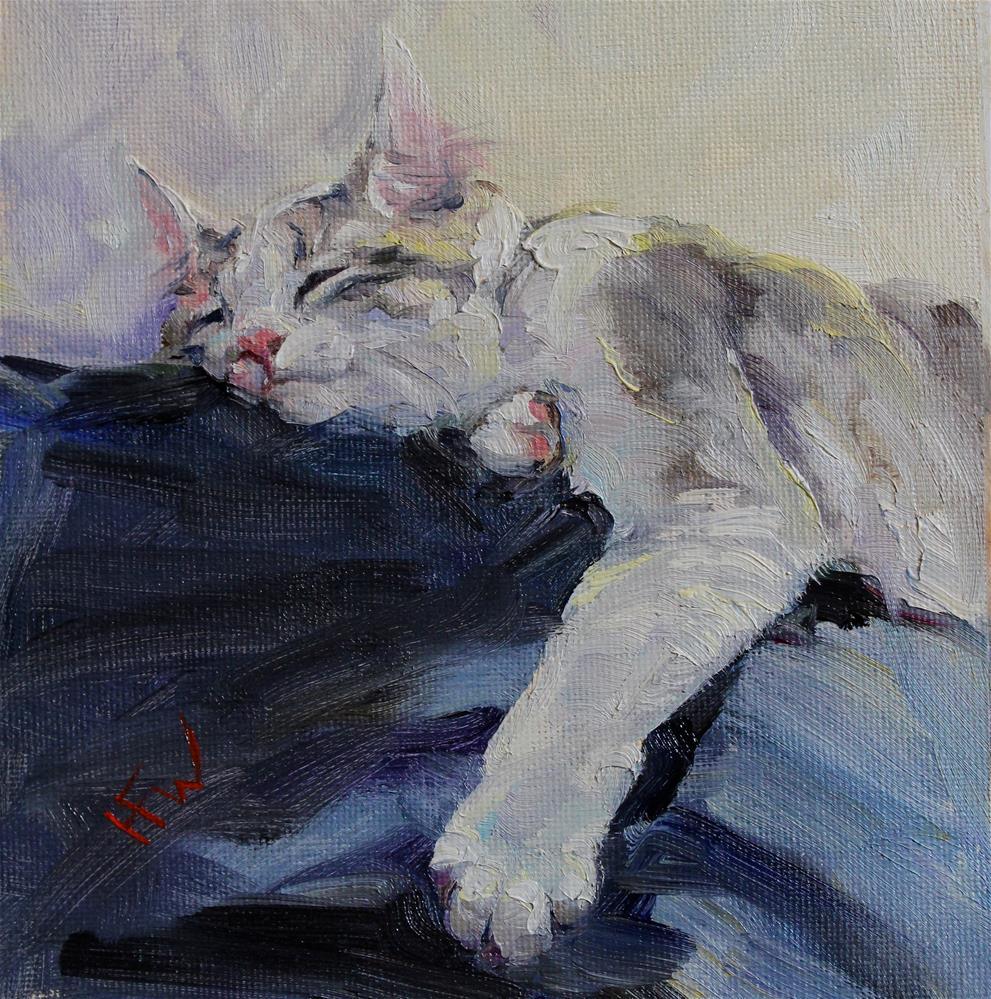 """""""The Comfy Spot"""" original fine art by H.F. Wallen"""