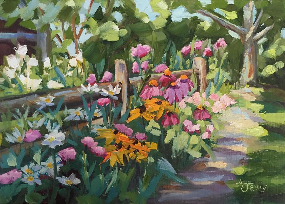 """Flower Path 1"" original fine art by Andrea Jeris"