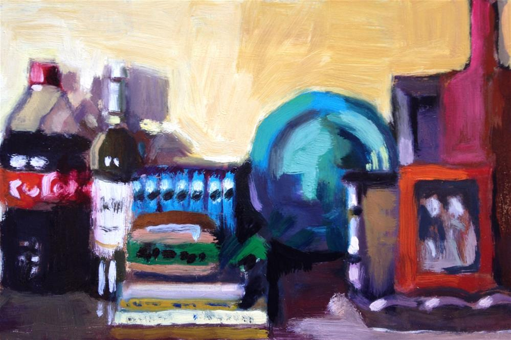 """Crowded Kitchen Counter/Favorite Things"" original fine art by Pamela Hoffmeister"