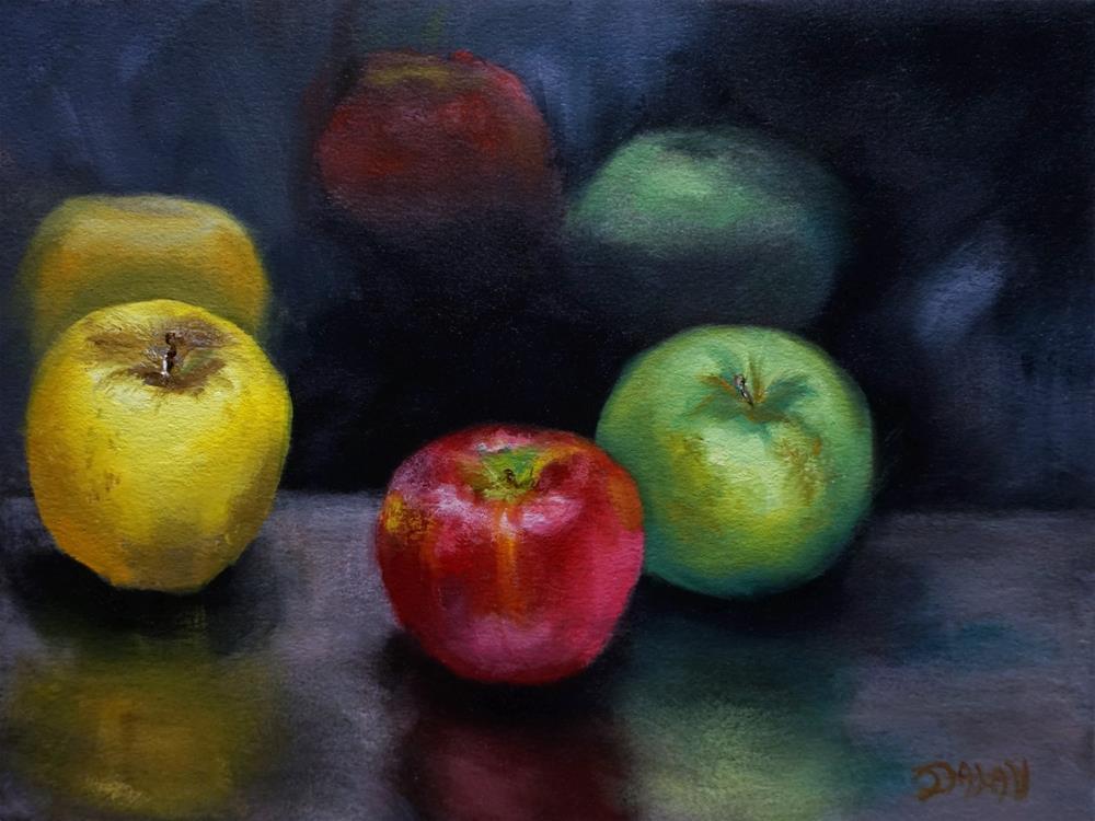 """Apple Trio"" original fine art by Dalan Wells"