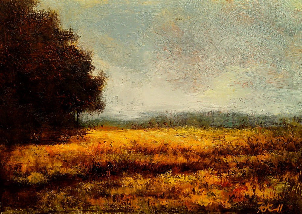 """Tall Grass in the Sun"" original fine art by Bob Kimball"