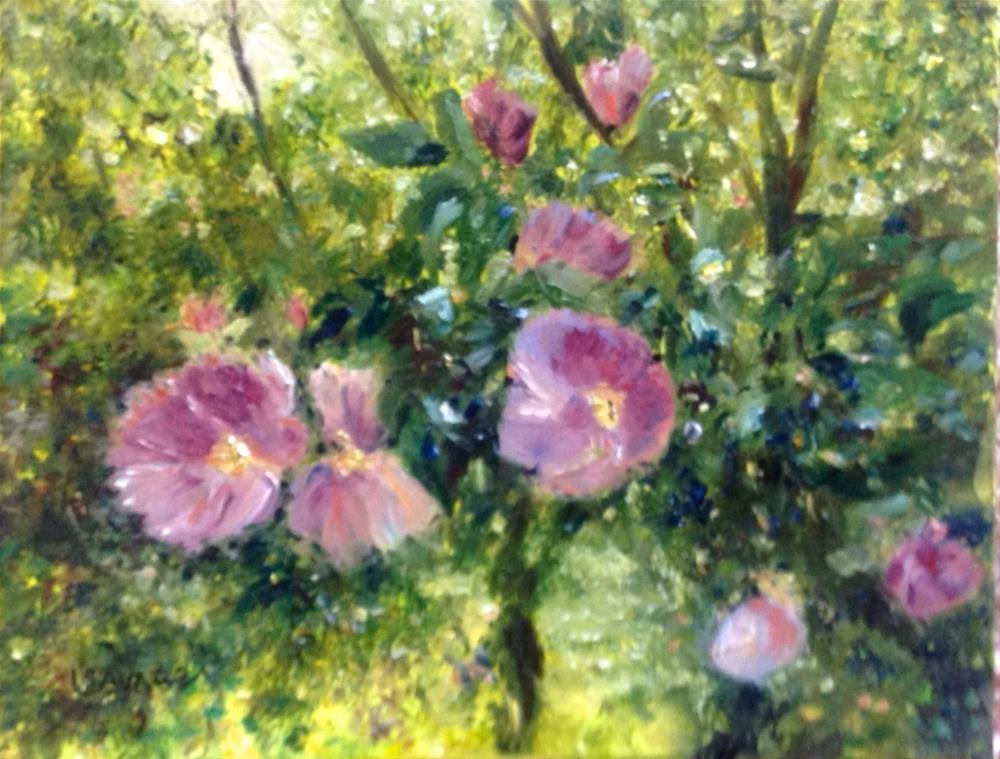 """Wild Roses"" original fine art by Judy Usavage"