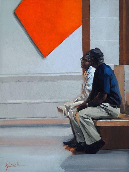 """Red Up On"" original fine art by Karin Jurick"