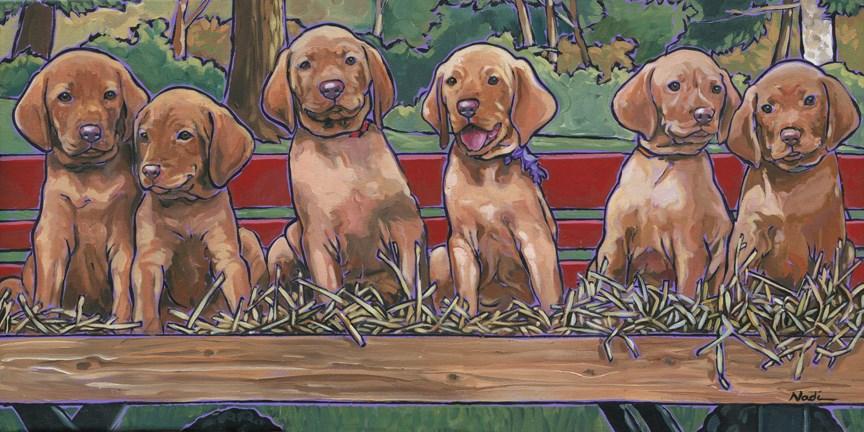 """Vizsla Pups"" original fine art by Nadi Spencer"