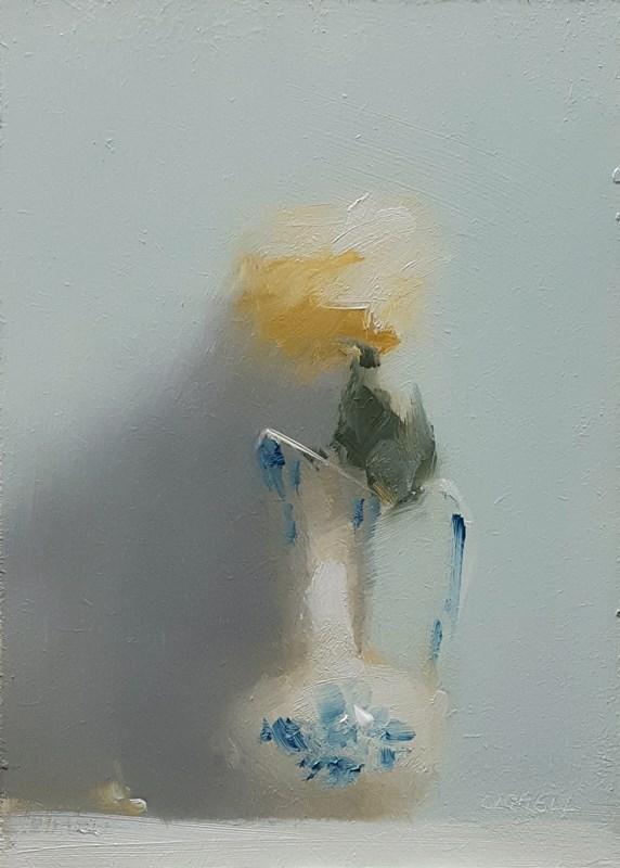 """Rose in Small Jug"" original fine art by Neil Carroll"