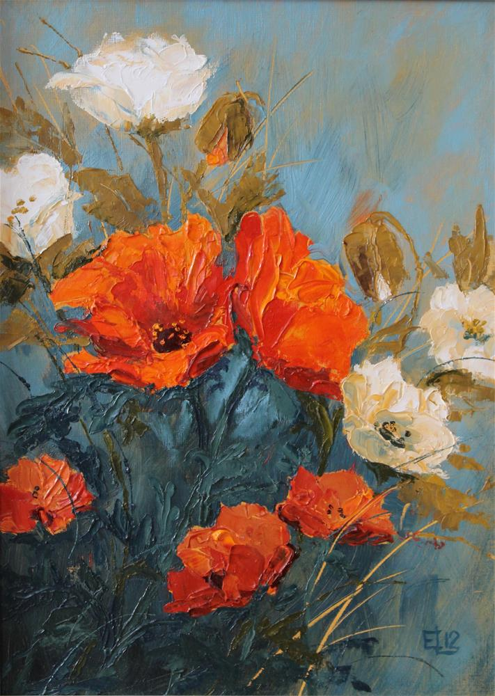 """Poppies"" original fine art by Emilia Leinonen"