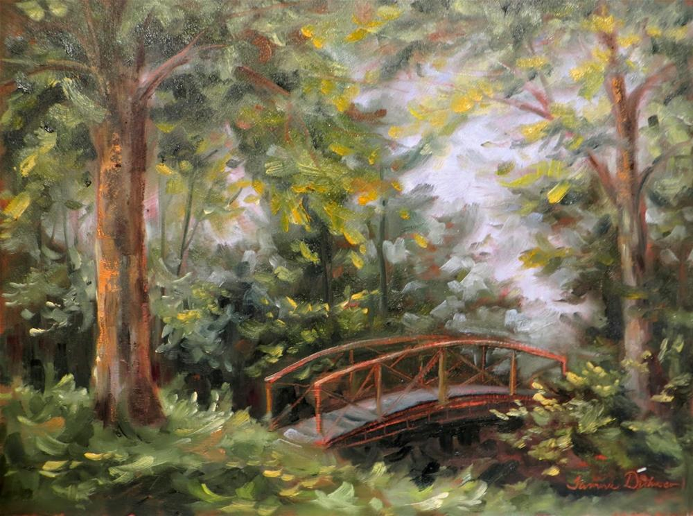 """Footbridge at Fairview"" original fine art by Tammie Dickerson"