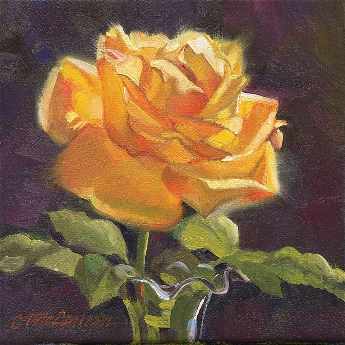 """Glowing"" original fine art by Connie McLennan"