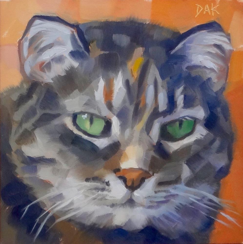 """Peaches"" original fine art by Deborah Ann Kirkeeide"