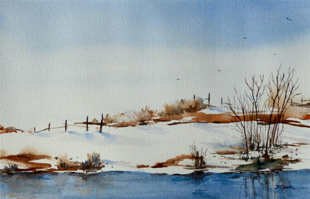 """Prairie Winter"" original fine art by Judith Freeman Clark"