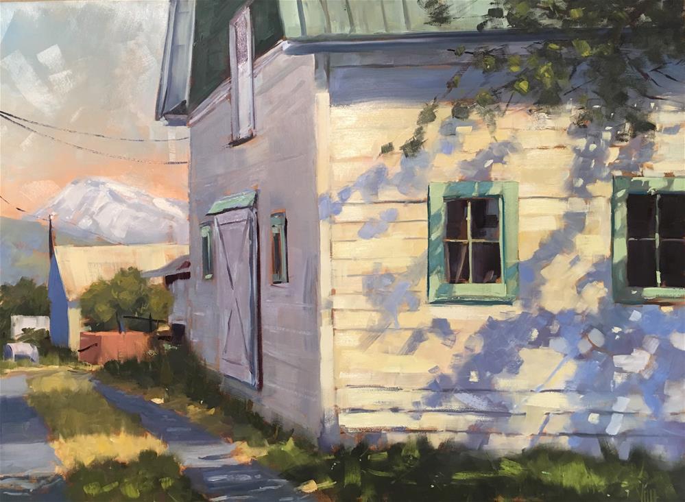 """Mount Hood Barn"" original fine art by Patty Voje"