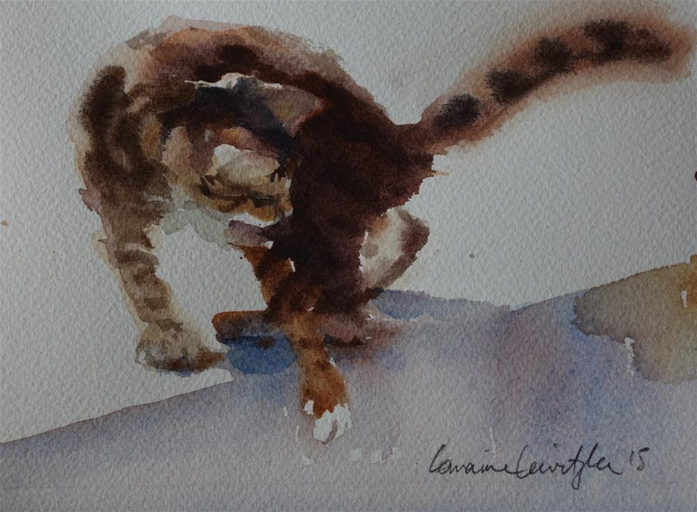 """Twisty Cat"" original fine art by Lorraine Lewitzka"