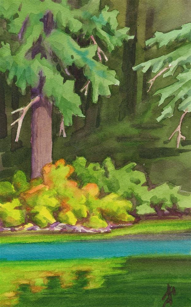 """""""Clearlake Shore"""" original fine art by Mark Allison"""