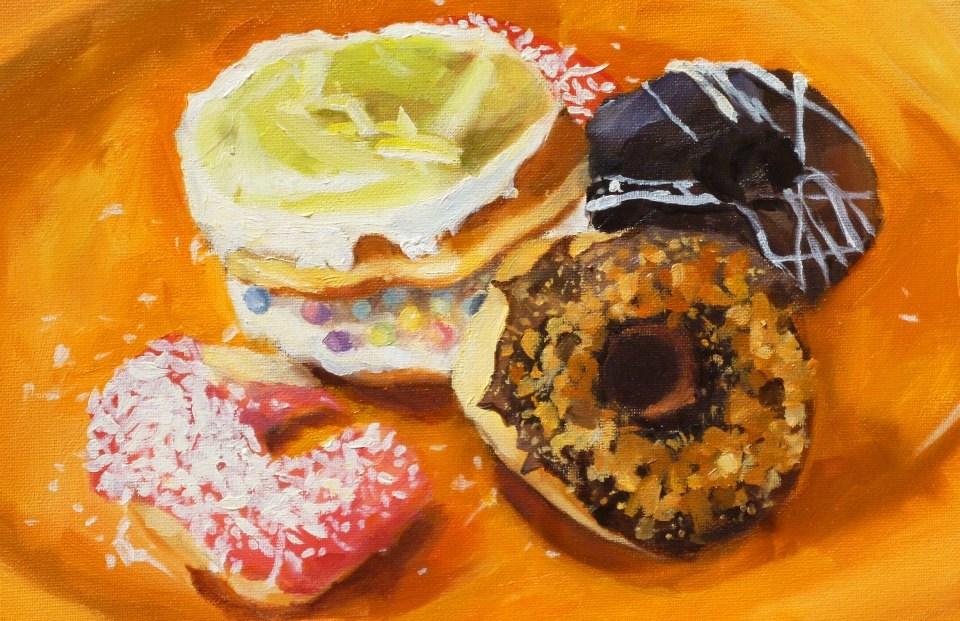 """""""Doughnut Delights"""" original fine art by Nava Judith"""