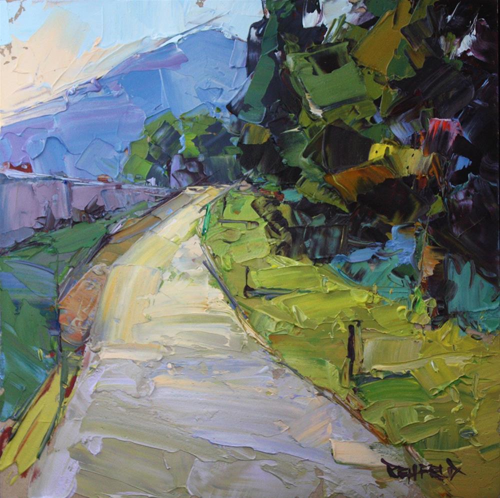 """Waterfront Winding Path"" original fine art by Cathleen Rehfeld"