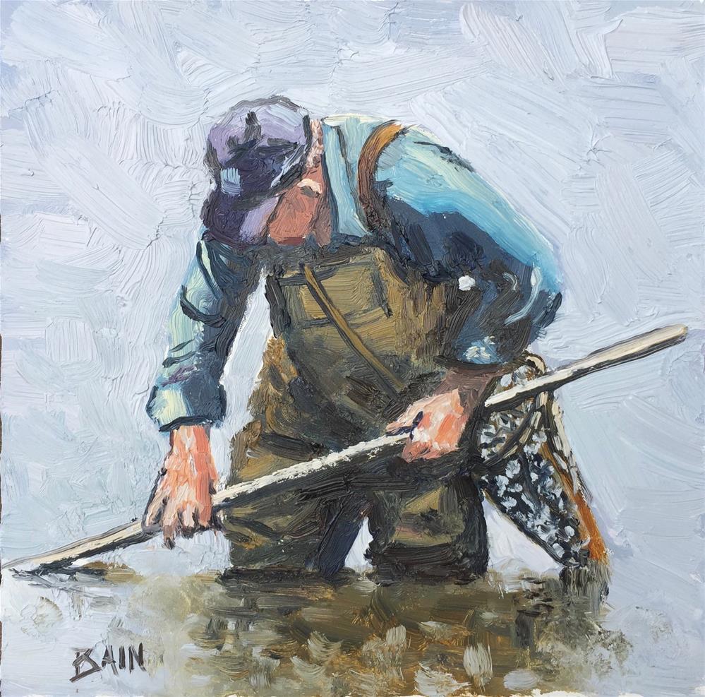 """""""Shallow Water"""" original fine art by Peter Bain"""