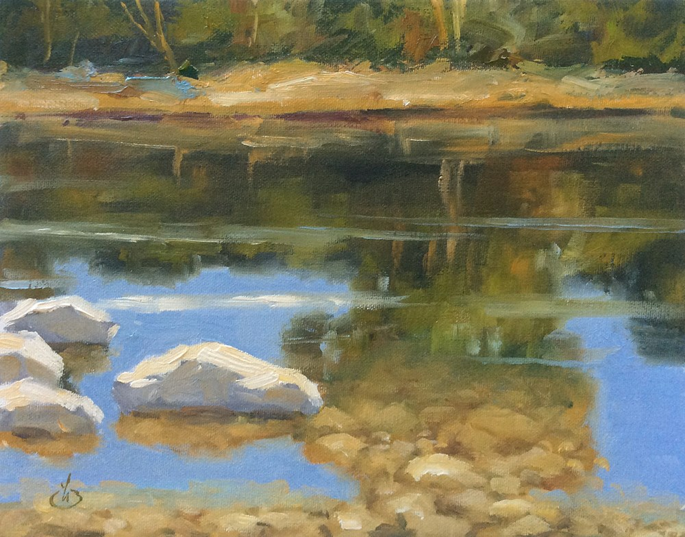 """REFLECTING ON NATURE"" original fine art by Tom Brown"
