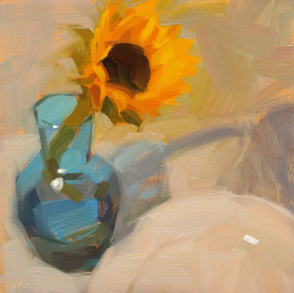 """Sunny in Blue"" original fine art by Carol Marine"