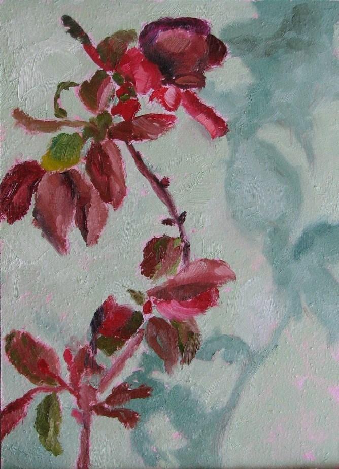 """Crab Apple"" original fine art by Pam Holnback"