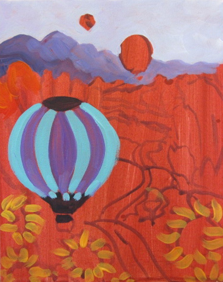 """Balloon Painting"" original fine art by Dee Sanchez"