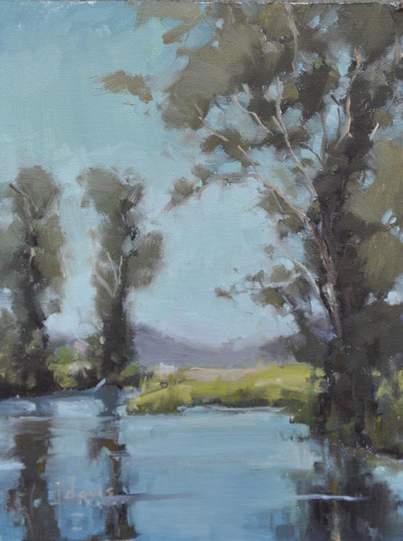 """Tree Study 19"" original fine art by Julie Davis"