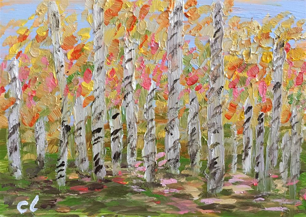 """Leaves left behind"" original fine art by Cheree Apalona Lueck"