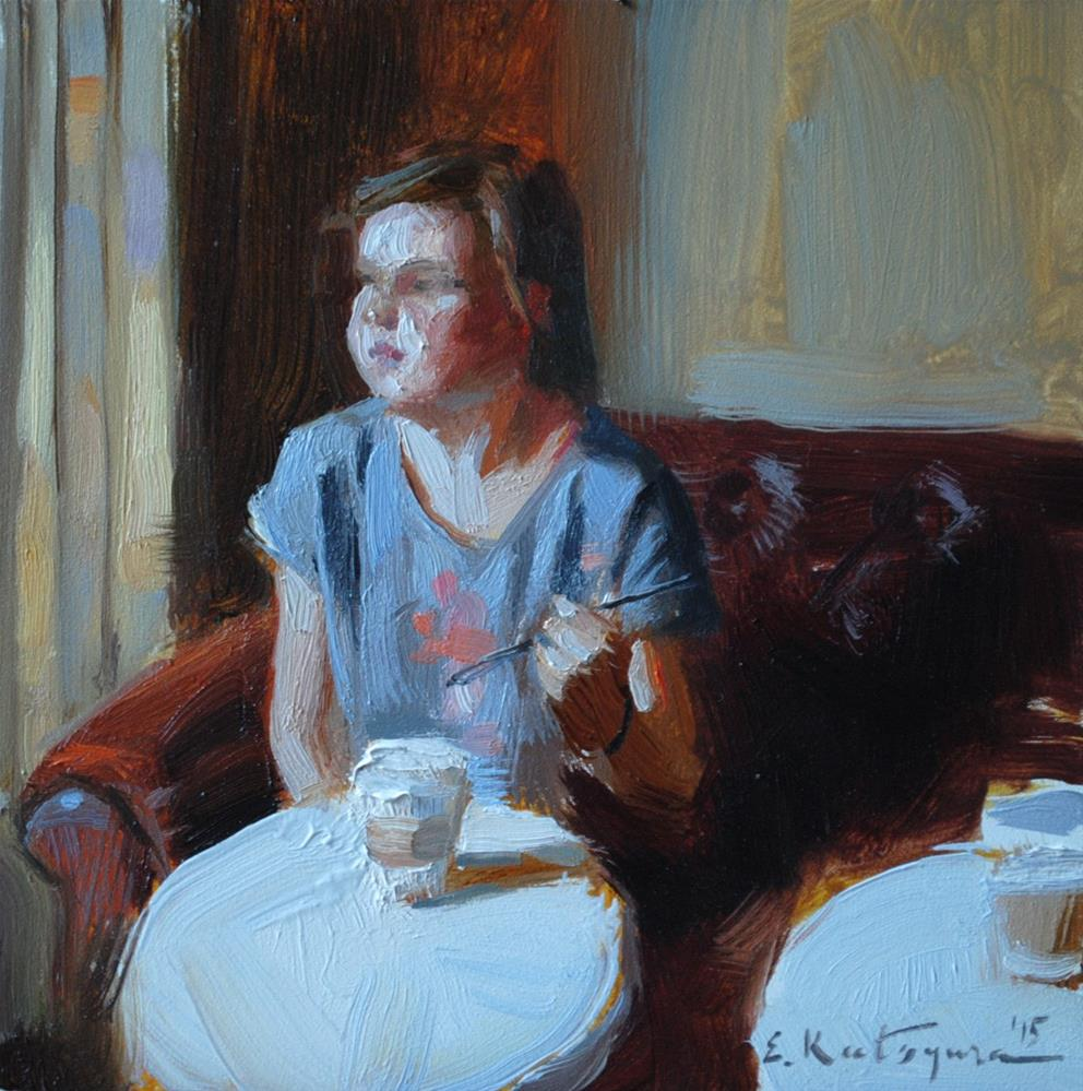 """Coffee Time"" original fine art by Elena Katsyura"
