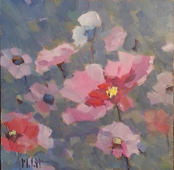 """Cosmos Flower Garden Original Art Heidi Malott"" original fine art by Heidi Malott"