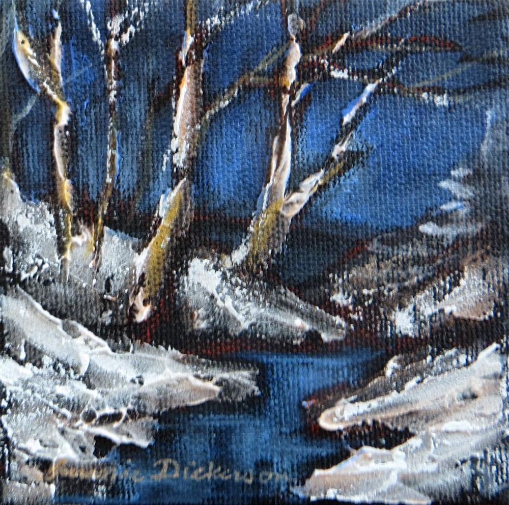 """Winter's Night - miniature"" original fine art by Tammie Dickerson"