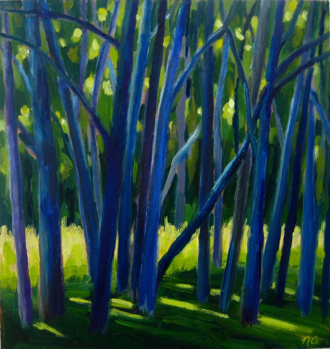 """Sunlit Meadow"" original fine art by Nicki Ault"