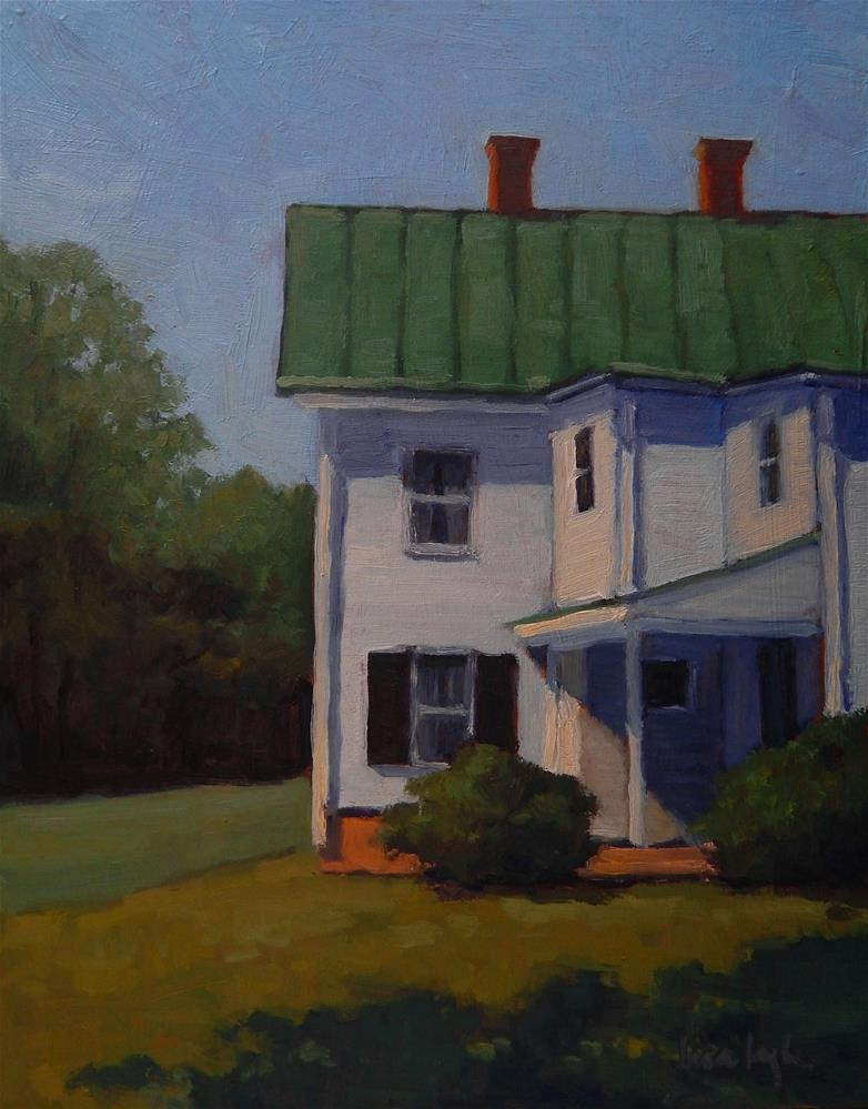 """White House in the Sun"" original fine art by Lisa Kyle"