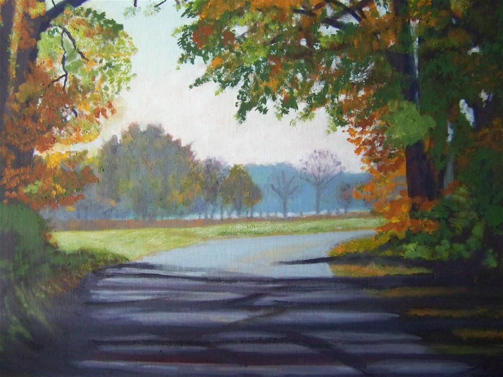 """Turn into Fall"" original fine art by Elaine Shortall"