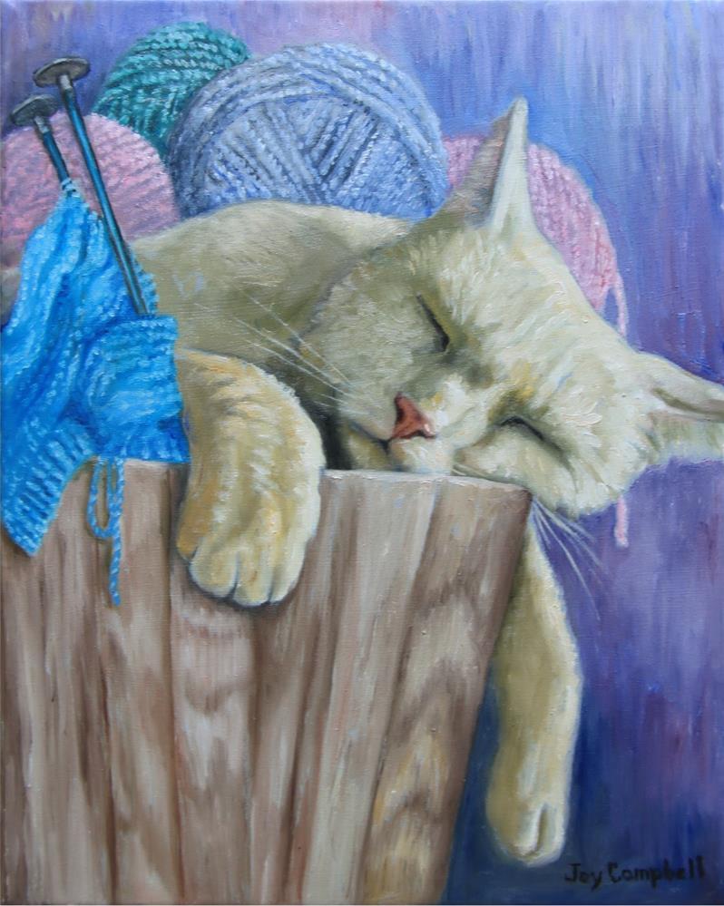 """Soft and Cozy"" original fine art by Joy Campbell"