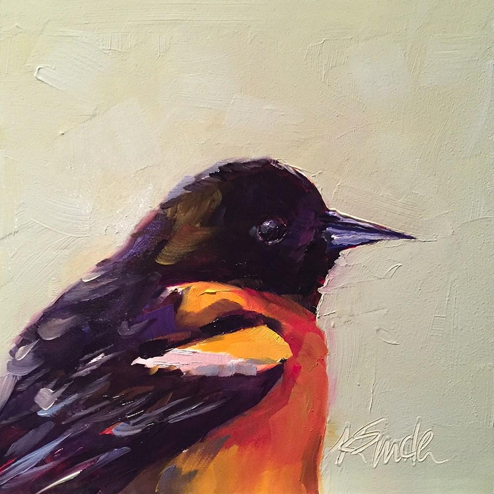 """""""Baltimore Oriole"""" original fine art by Kim Smith"""