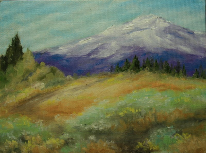 """Mt.Rainier"" original fine art by Jean Nelson"