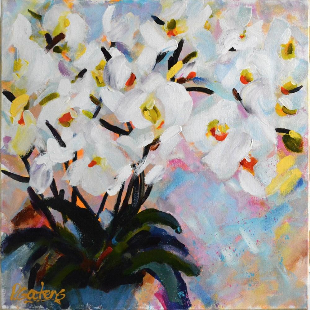 """""""Orchid Flutter"""" original fine art by Pamela Gatens"""