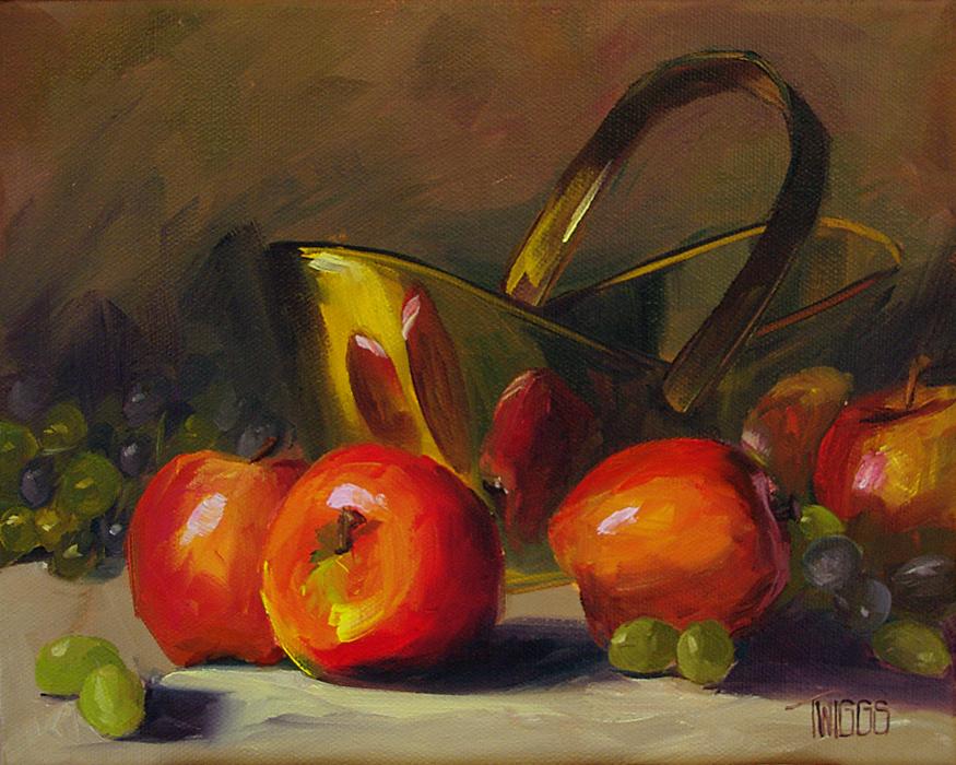 """Shiny Reds"" original fine art by Lori Twiggs"