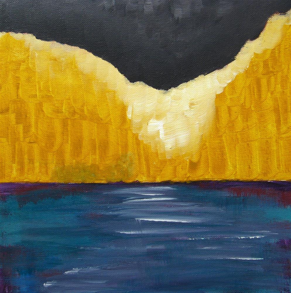 """Yellow Night"" original fine art by Alina Frent"