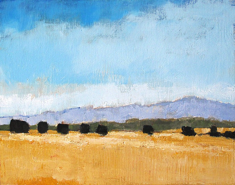 """Rolling Farmland in Santa Barbara"" original fine art by Kevin Inman"