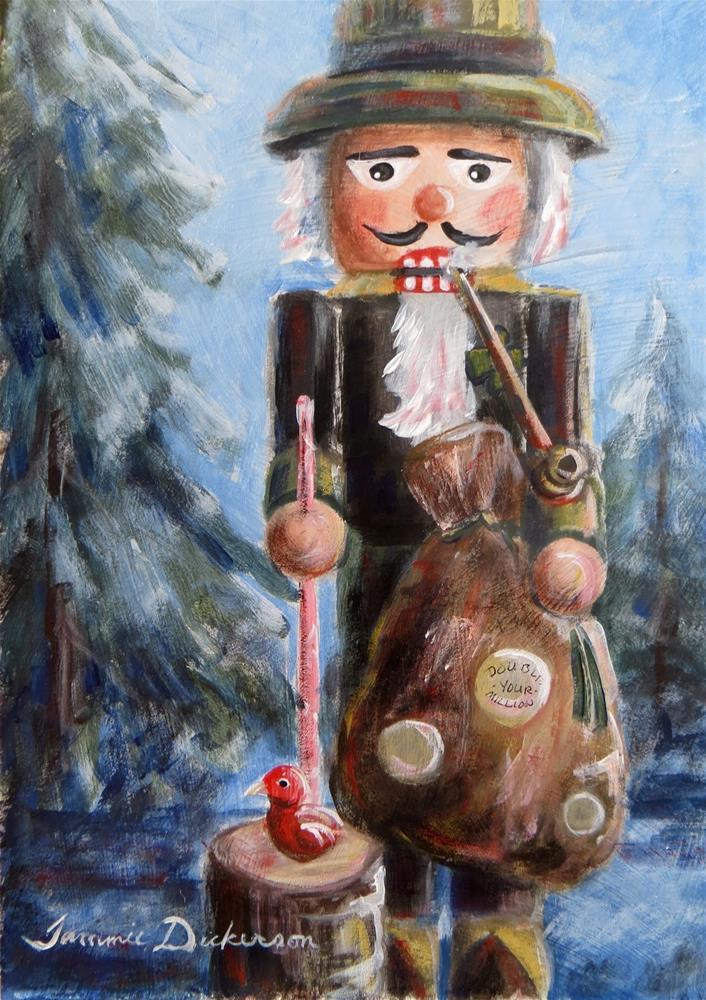 """Leprechaun Nutcracker"" original fine art by Tammie Dickerson"