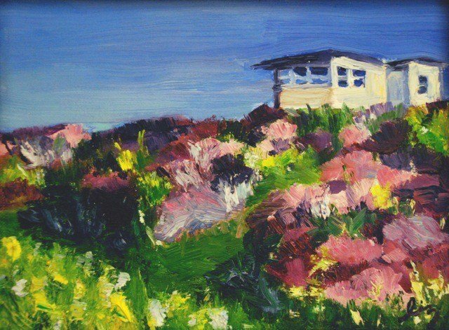 """Heather Field, Isle of Skye"" original fine art by Liz Zornes"