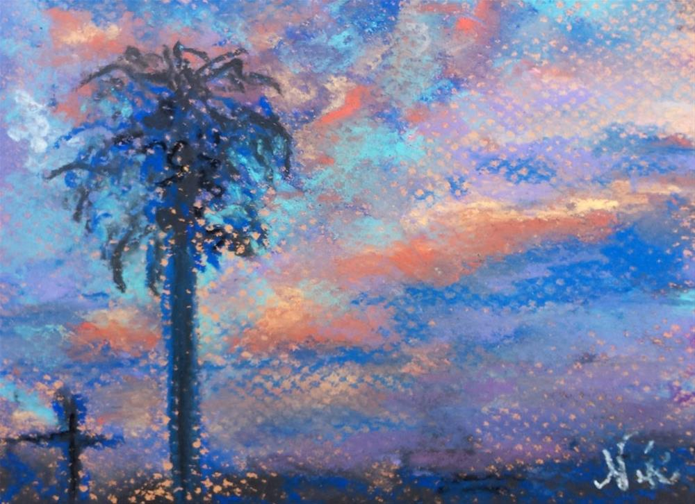 """Stormy Dawn"" original fine art by Niki Hilsabeck"