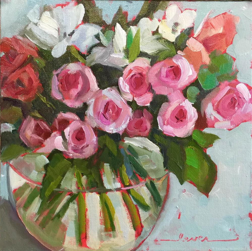 """Margaret's Flowers"" original fine art by Martha Lever"