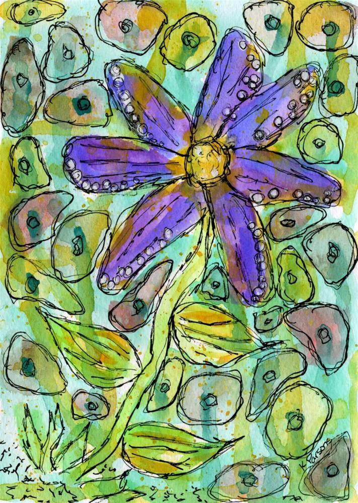 """Purple Loveliness"" original fine art by Kali Parsons"