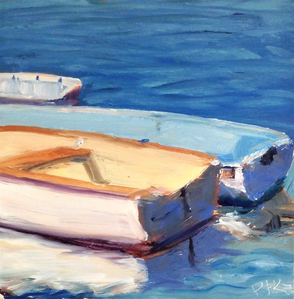 """Cotuit Dinghys 2"" original fine art by Debra Kennedy"