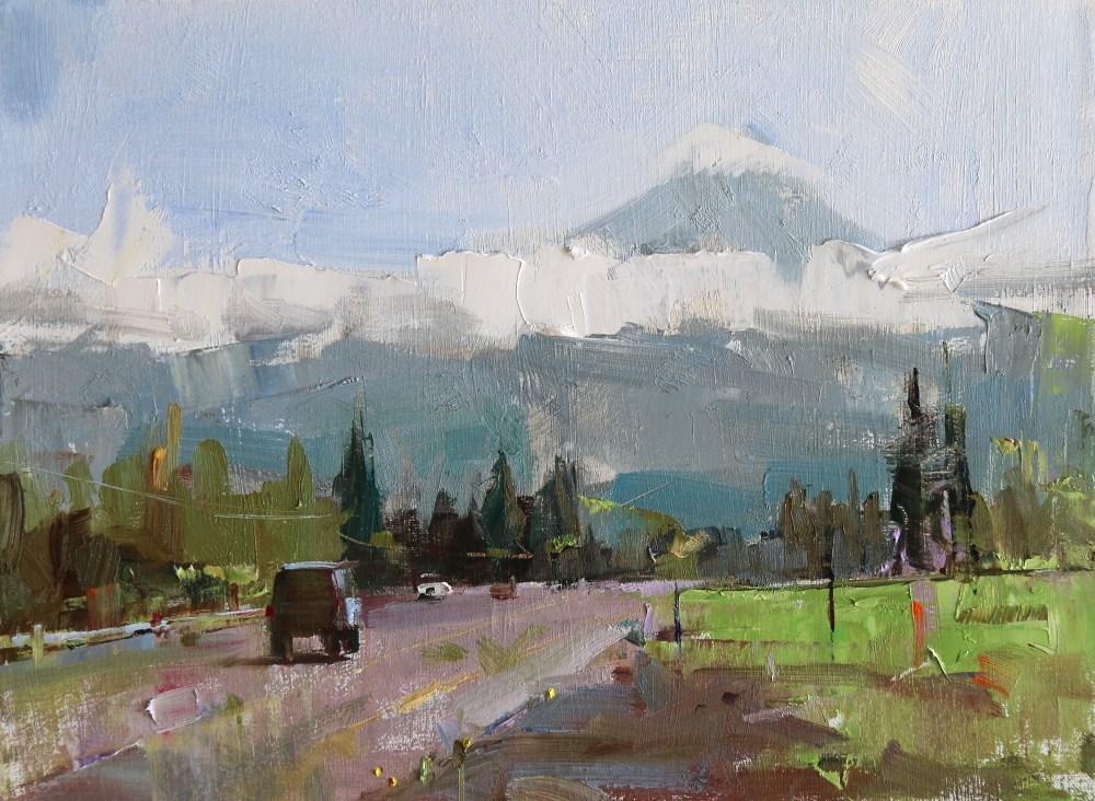 """Mt Hood OR"" original fine art by Qiang Huang"