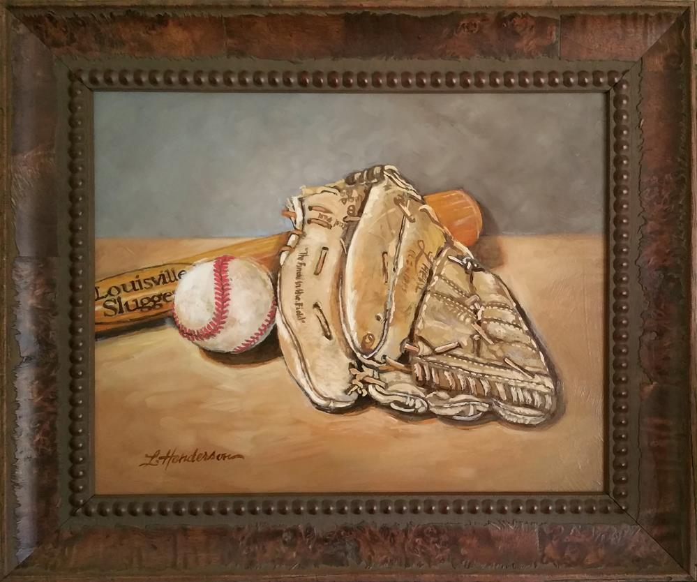 """Baseball"" original fine art by Lael Henderson"